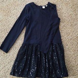 Girls Navy Gap dress